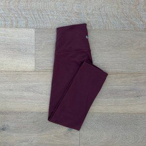 Lululemon Leggings Burgundy